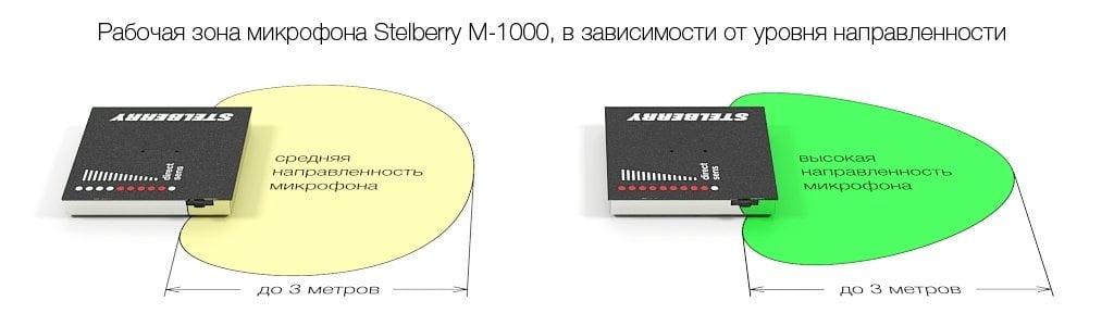 Зона направленности микрофона STELBERRY M-1000