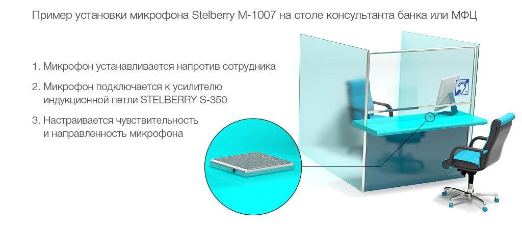 Пример установки микрофона в МФЦ