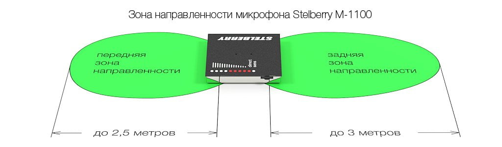 Зона направленности микрофона STELBERRY M-1100