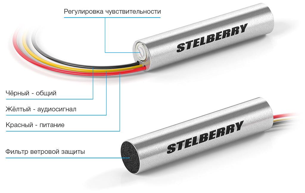 Регулировки микрофона STELBERRY M-50HD