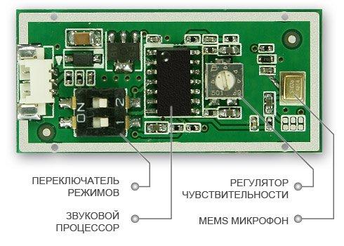 УСТРОЙСТВО АКТИВНОГО MEMS МИКРОФОНА STELBERRY M-60