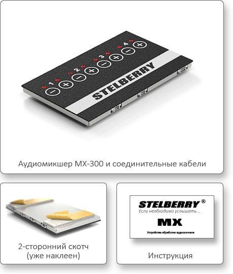 КОМПЛЕКТ ПОСТАВКИ STELBERRY MX-300
