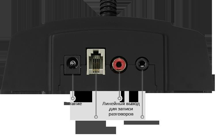 Назначение разъемов переговорного устройства для АЗС STELBERRY S-420