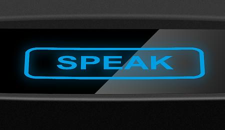 Сенсорная клавиша «SPEAK» пульта «КАССИР»